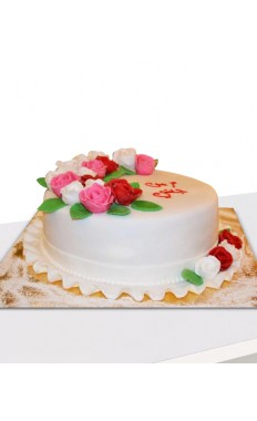 Love For Flowers Cake